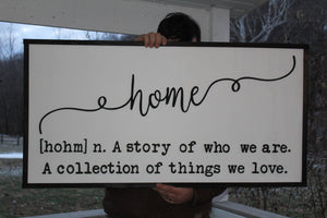 Home, Sign, Things we Love, Large Farm House Sign,  3D Letters, Not Painted, Large, Fire Place Sign, Shabby Chic, FootStepsinthePast