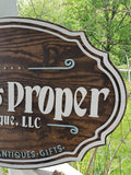 large wood sign, Business Sign, Oval, 3D, Custom, Antique Store, Indoor, Outdoor, Small Business Laser Cut, Wood, Sign, farmhouse wooden