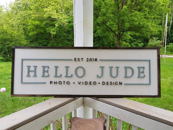 Large Photography Sign, Photographer, Videographer, Commercial Business Sign, Wood, 3D, Exterior Sign, Outdoor, Entrance Sign, Personalized