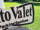 Valet Sign, Auto Valet, Black Bow Tie, Parking Sign, Event, Business Logo, Commercial, Exterior, Outdoor, Wooden, Wood, FootstepsinthePast