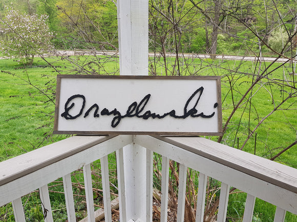 actual signature, your signature, handwriting cut out of wood large sign personalized unique gift wedding gift memorial gift for mom and dad