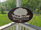 Business Sign, Oval, 3D, Large, Custom, Hobby Farm, Indoor, Outdoor, Your Logo,  Business Logo, Laser Cut, Wood, Sign, farmhouse wooden farm