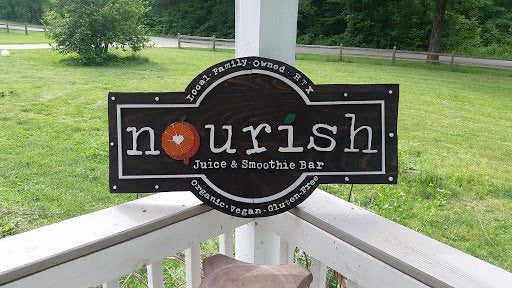 Juice Bar Sign, Smoothie Bar, Restaurant Sign, Custom Business Sign, Exterior, Outdoor, Wooden, Wood, FootstepsinthePast