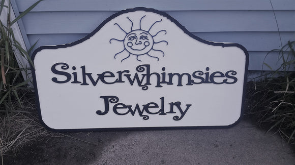 Small Business Sign, Jewelry Store Sign, Shop, Business, Logo, Store Front,  Large, Custom Sign, 3D, Extra Large, Sign Footstepsinthepast