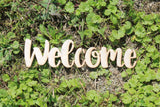 Welcome, Welcome Cutout, Welcome Sign, Welcome Wall Hanging, Welcome DIY, Wood Word, Laser Cut Wood Word, Wooden, Decor, Wreath, Birch