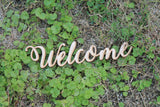 Cursive Welcome Sign, Welcome, Welcome Cutout, Welcome DIY, Wood Word, Crafts, Wreath, Laser Cut Wood Word, Wooden, Decor, Birch