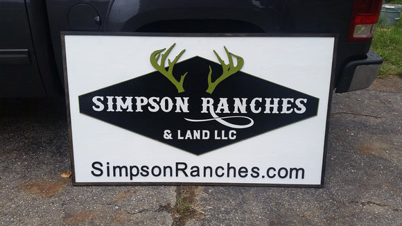 Realty Sign, Realtor Sign, Ranch Sign, Large Outdoor, Commercial Business Sign, Wood, 3D, Exterior Sign, Outdoor, Entrance Sign, Personalize