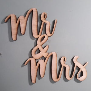 Mr and Mrs Sign, Wreath Making, Wooden Words, Laser Cut Out, Wood Cut Out, Custom Word Art, for photo wall art decor Personalized cutstom