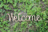 Welcome Word, Sign, Welcome, Welcome Cutout, Welcome DIY, Wood Word, Crafts, Wreath, Laser Cut Wood Word, Wooden, Decor, Birch