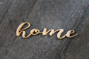 Home, Laser Cut Out, Home Sign, Home Cutout, Home DIY, Wood Word, Craft, Laser Cut Wood Word, Wooden, Decor, Birch