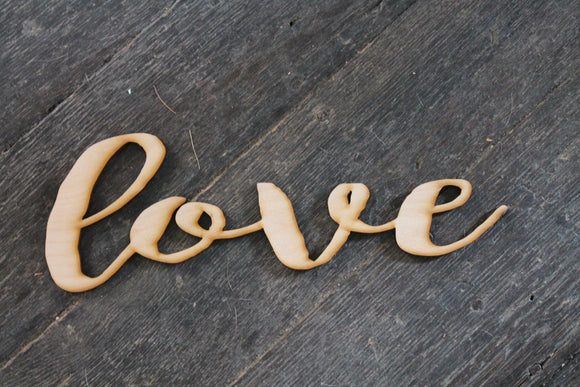 Love, Laser Cut Out, Love Sign, Love Cutout, Love DIY, Wood Word, Craft, Laser Cut Wood Word, Wooden, Decor, Birch