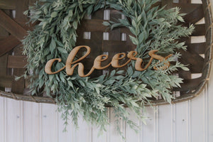Cheers, Laser Cut Out, Cheers Sign, Cheers Cutout, Cheers DIY,  Christmas, Wood Word, Craft, Laser Cut Wood Word, Wooden, Decor, Birch