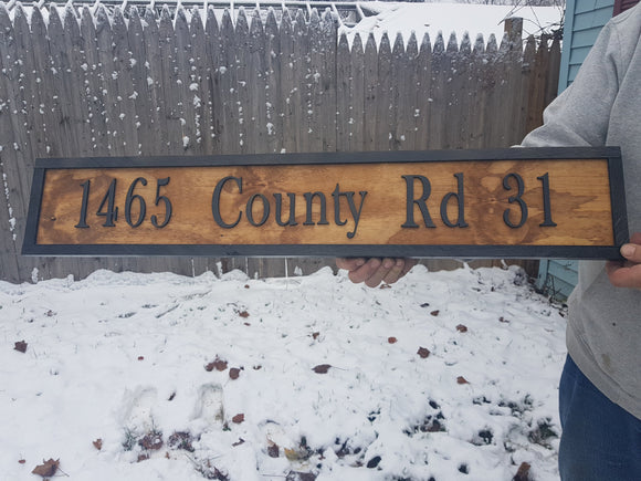 Address Sign, 3D, Large Custom Address Sign, Over-sized Rustic, Wood, Laser Cut Out, Extra Large, Sign Footstepsinthepast