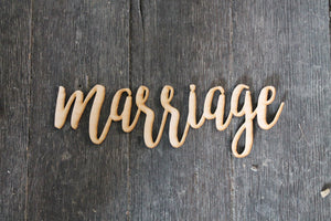 Marriage, Laser Cut Out, Marriage Sign, Marriage Cutout, Marriage DIY, Wood Word, Craft, Laser Cut Wood Word, Wooden, Decor, Birch