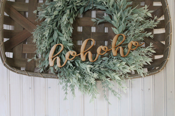 HoHoHo, Ho Ho, Laser Cut Out, HoHoHo Sign, HoHoHo Cutout, HoHoHo DIY,  Christmas, Wood Word, Craft, Laser Cut Wood Word, Wooden, Decor
