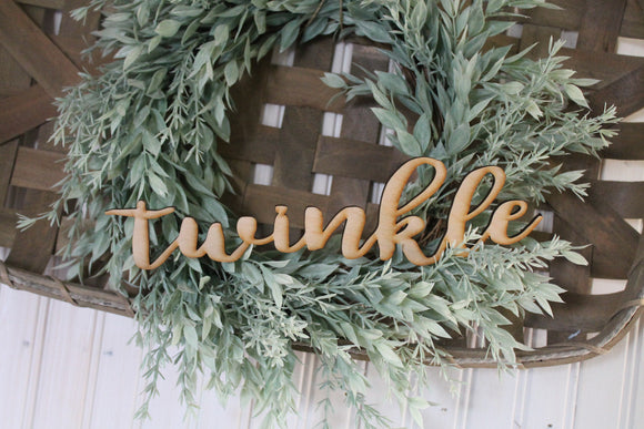 Twinkle, Laser Cut Out, Twinkle Sign, Twinkle Cutout, Twinkle DIY, Christmas, Wood Word, Craft, Laser Cut Wood Word, Wooden, Decor