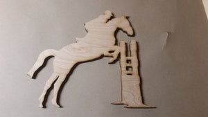 Jumping Horse, Horse Laser Cut Out, Vaulting, Fox Hunting, Horse Cutout, Horse DIY, Wood Animal, Silhouette, Craft, Decor, Birch