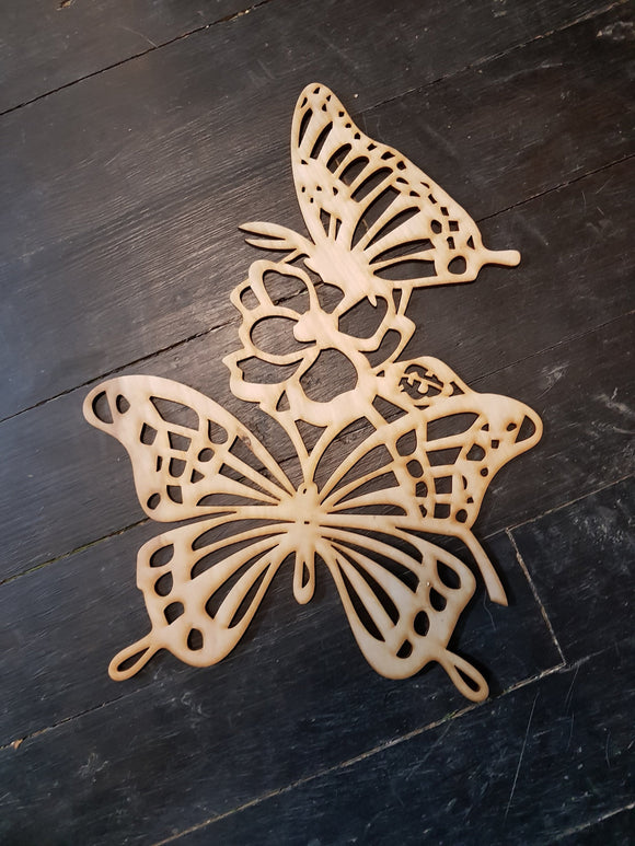 Butterfly Wood Cut Out, Insect, Monarch, Girls Room Decor, Floral, Laser Cut Out, Cutout, DIY, Wood Animal, Silhouette, Craft, Decor, Birch