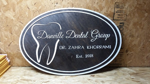 Dental Sign, Dentist Sign, Dentist Business Sign, Tooth, Sign, 3D, Large, Custom, Your Logo,  Business Logo, Laser Cut, Wood
