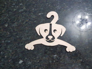 Laser Cut Dog Baby Clothes Hanger, Wood Hanger,  Puppy Cut Out, Laser Cutout, DIY, Wood, Silhouette, Craft, Decor, Birch