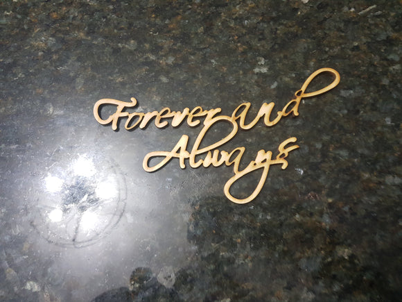 Forever and Always Sign, Wood Forever Always, Always and Forever Cutout, DIY, Wood Word, Laser Cut Wood Word, Wooden, Decor, Wreath, Birch