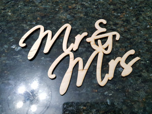 Mr and Mrs Sign, Wood Text Mr & Mrs, Wedding, Bride and Groom, Cutout, DIY, Wood Word, Laser Cut Wood Word, Wooden, Decor, Wreath, Birch