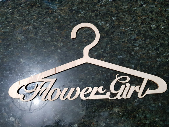 Wedding hanger, Flower Girl hanger, Wedding Dress Hanger, Bridal Hanger, Wedding Cut Out, Laser, Wood, Birch DIY, Clothing, Wardrobe
