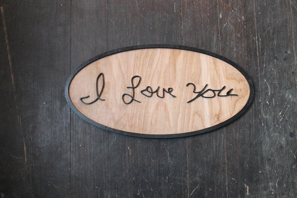Your Handwriting, Actual Hand writing sign, Oval, Framed, custom personalized wood decor shabby chic rustic primitive, handwriting