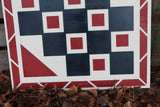 Barn Quilt, Wood Barn Quilt, Barn Decor, Patriotic, Red White Blue, Mosaic, Handmade, Primitive, Wood, Laser Cut Out, Extra Large, Customize