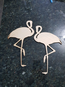 Flamingo Cut Out, Nursery Ocean, Beach Theme, Coastal, Coral Reef, Laser Cut Out, Cutout, DIY, Wood Bird, Silhouette, Craft, Decor, Birch