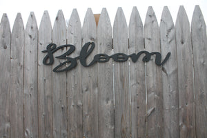 Bloom Cutout, Wood Cut Out, 3D, Wall Decor, Encouragement, Decor, Bedroom Decor, Sign, Birch, Wood Words, Laser Cut Out, 3D Text