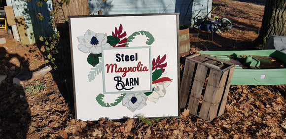 Large Farm Sign, Magnolia, Barn, Custom Business Sign, We Use Your Graphic and Colors, Business Logo, Wood, Laser Cut Out, 3D, Extra Large