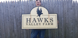 Farm Sign, Large Custom Business Sign, We Use Your Actual Graphic, Business Logo, Wood, 3D, Extra Large
