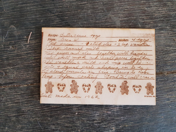 Custom Handwritten, Recipe Card, Engraved, Actual Image, Actual Handwriting, 3x5, Your Handwriting, Keepsake, Hand me Down, Mothers Gift