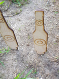 Wood Shooting Targets, Bottle, Self Standing, Target Practice, Sighting Scopes, Any size Caliber, Any Size Gun,  Laser Cut Out, Wood Cut Out