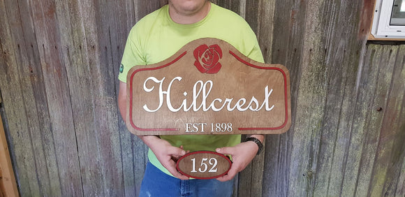 Custom Large Wood Business Sign and Matching Address Sign, Apartment Complex, Small Business, Your Logo, 3D, Raised Text