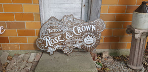 Large Custom wood Tattoo Business Sign, Small Business, We Use Your Actual Graphic, Business Logo, Wood, Laser Cut Out, 3D, Extra Large