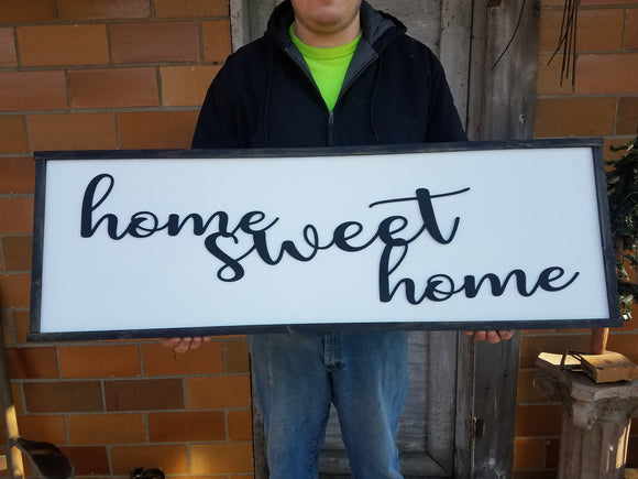 Home Sweet Home large wood porch sign great for living room chabby chic farmhouse style for your farm house country rustic