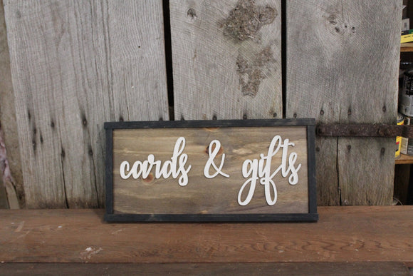 Cards & Gifts, Wedding, Party, 3D Raised Text, Extra Large, Framed, Sign, Rustic, Primitive, Barn, Wood, Country, Signage