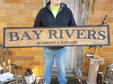 Large Custom Boarding Day Care Sign, Over-sized Rustic Business Logo, Wood, Laser Cut Out, 3D, Extra Large, Sign Footstepsinthepast