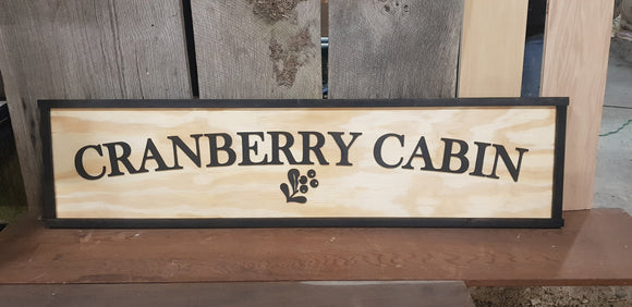 Large Custom Cabin Ranch Sign, Over-sized Rustic Business Logo, Wood, Laser Cut Out, 3D, Extra Large, Sign Footstepsinthepast