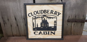Large Custom Cabin Ranch Sign, Square,  Over-sized Rustic Business Logo, Wood, Laser Cut Out, 3D, Extra Large, Sign Footstepsinthepast