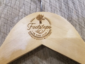 Custom Clothes Hanger Engraved Hard Wood Use Your Logo Customization Business Logo Personalized