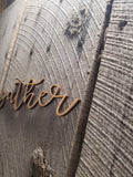 Gather, Script, Text, Laser Cut Out, Sign, Cutout, Love DIY, Wood Word, Craft, Laser Cut Wood Word, Wooden, Decor, Birch