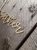 Together, Script, Text, Laser Cut Out, Sign, Cutout, DIY, Wood Word, Craft, Laser Cut Wood Word, Wooden, Decor, Birch