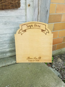 Sign Here, Sign Board, Graduation, Signature Name Sign, Signature Board, Guest Book, Wedding, Engraved, Party, Memory, Personalized, Wood