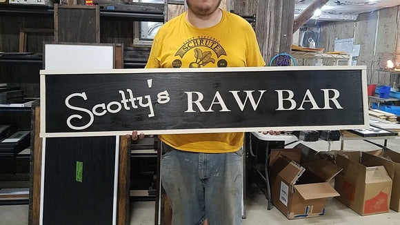 Large Custom Bar Sign, Ranch, Farm, Restaurant, Over-sized Rustic Business Logo, Wood, Laser Cut Out, 3D, Extra Large, Sign