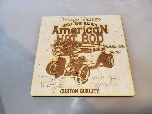 Classic Car Show, Award, Plaque, American Hot Rod, Garage, Custom, Personalize, Engraved, Wood, Dad Gift,