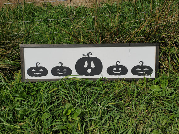 Pumpkin, Jack-o-lantern, Fall, Autumn, Halloween Sign, Decor, Wall, Wood, 3D, Laser Cut, Primitive, Rustic, Raised, Graphic, Decoration