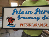 Pet Grooming, Animal Clinic, Large Custom Business Sign, We Use Your Actual Graphic, Business Logo, Wood, Laser Cut Out, 3D, Extra Large